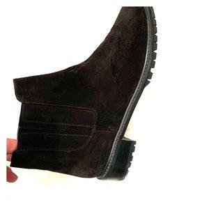 Stuart Weitzman 50/50 black suede booties size 11